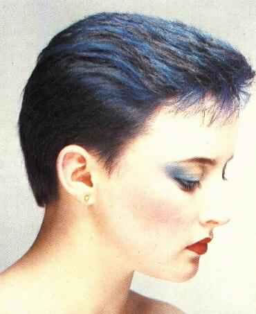 Pixie. Extremal haircuts and shaving head of women and girls. Mode and ...